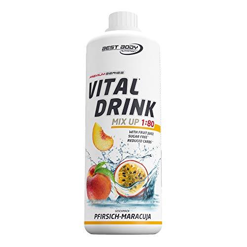 Best Body Nutrition Vital Drink Pfirsich-Maracuja, Getränkekonzentrat, 1000ml Flasche