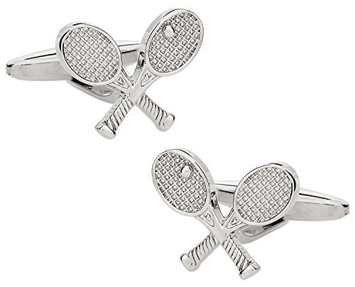 Unique-Racchetta da Tennis Cuff-Daddy-Gemelli in argento