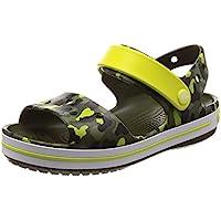 crocs Unisex's Crocband SeasonalGraphic Sdl K Yellow Sandals-1 UK (J1) (205765-738-J1)