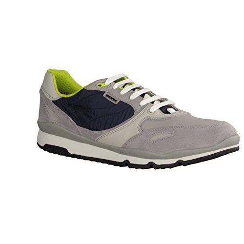 Geox U52a6a-022fu / C1965 Mens Chaussures À Lacets Grises