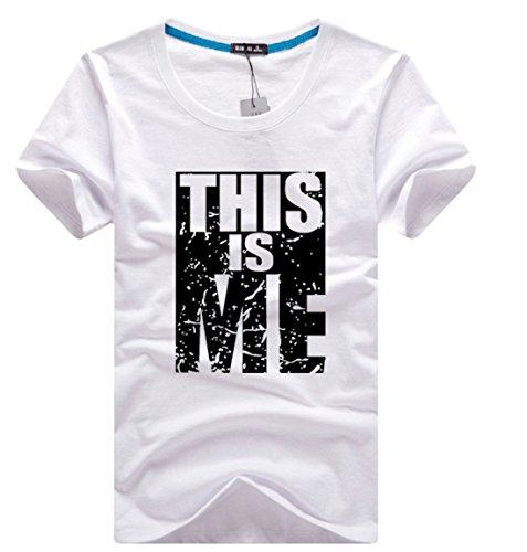 Men's High Quality Comfortable Bargain Short Sleeved Tee Shirt white