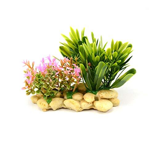 Toruiwa Aquarium Dekoration Künstliche Pflanzen Blume Aquarium Wasserpflanzen Aquariumpflanzen Plastikpflanzen Aquarium Zierblätter für Aquarien (9 * 4.9 * 7.5cm)