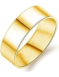 UM Joyería Sencillo Hombres Mujer Acero inoxidable parejas Amor anillos Oro
