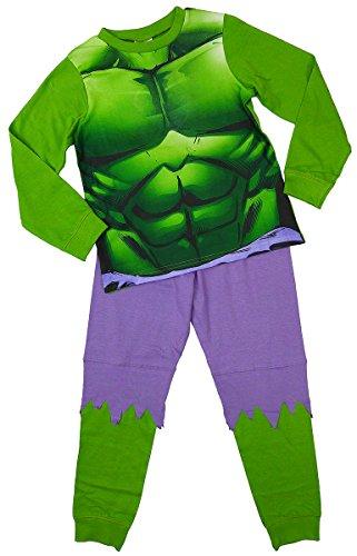 Jungen Offiziell Marvel Unglaubliche Hulk Kostüm Neuheit Schlafanzüge größen von 2 bis 8 jahren - Grün - Grün, Jungen, 122-128, (Kostüme Kinder Hulk)