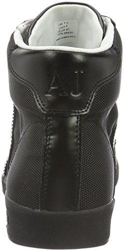 Armani Jeans 935566cc503, Sneakers basses homme Noir - Schwarz (NERO 00020)