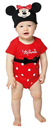 ody mit Mütze Babykostüm 12-18 Monate / 86cm (Minnie Maus Kostüme 12 Monate)