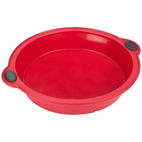 LEVIVO Molde de Horno de Silicona para Tarta, Rojo, 24 cm