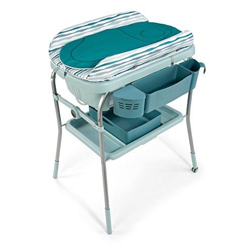 Chicco 04079348890000 Cuddle&Bubble Comfort Fasciatoio e Bagnetto, Blu