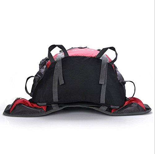 YAAGLE Damen und Herren Im Ferien Outdoor Bergsteigen Tasche 80+5 L Fahrradrucksack Camping Trekkingrucksack Wasserdicht Rücksack Orange