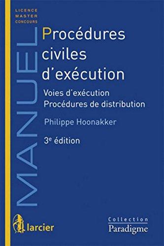 Procédures civiles d'exécution par Philippe Hoonekker
