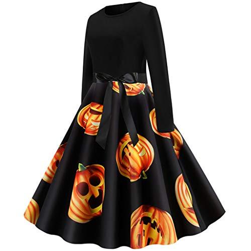URSING Damen Frauen Langarmkleid Partykleid Halloween Hooded Hexe Kostüm Faschingskostüme Party Karneval Fastnacht Kleid für Erwachsene Robe Kostüm Hexe Kostüm Kleid Party - Hooded Robe Kostüm Muster