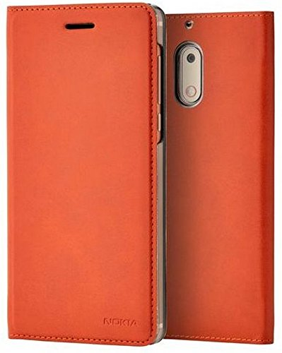 Nokia 1A21ML000VA Slim Flip Hülle CP-301 für Nokia 6 braun kupfer Cp-case