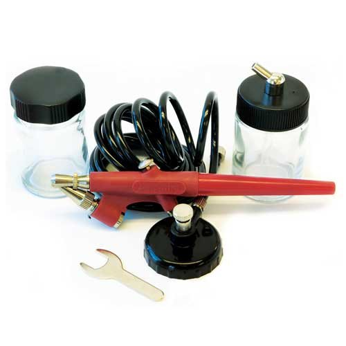 Paasche Airbrush Single Action Anfänger Airbrush Kit, Rot
