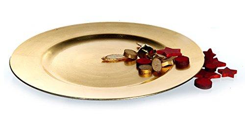 Platzteller Dekoteller Gold 33 cm