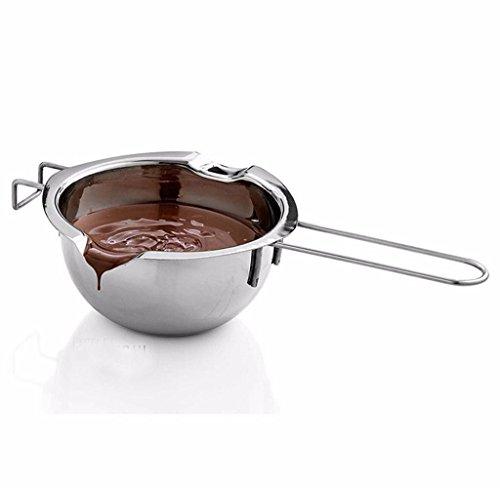 Covermason Schmelztopf, Schokolade Wasserbad Schmelzschale Wasserbadtopf Schmelzschüssel Wasserbadschüssel aus Edelstahl