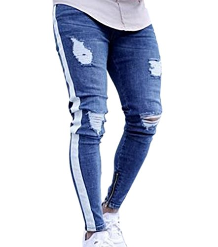 Herren Denim-Hosen, Skinny Fit Zerrissene Jeans Hübsche Mode-Design Denim-Hosen