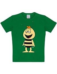 original Biene Maja WILLI Kids T-Shirt für Jungen & Mädchen GRÜN Gr. 104-176 KINDER SHIRT