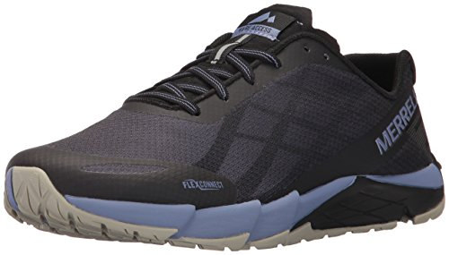 Merrell Women's Bare Access Flex Running Shoes, Black (Black/Metallic Lilac), 8 UK...