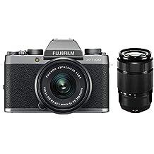 Fujifilm X T100con xc15–45mmf3.5–5.6OIS PZ + XC50–230mmf4.5–6.7OIS II Argento