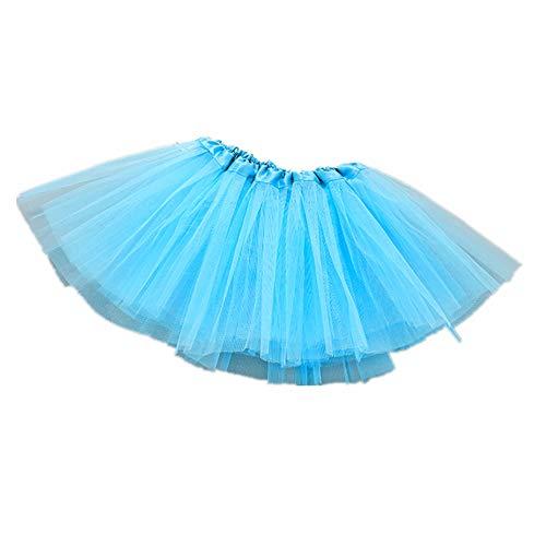 LINGS Tüllrock Mädchen Ballett Röcke Tutu Rock Ballettrock Tütü Tüllrock für Party Mädchen Kostüm Ballettrock Classic 2-8 Jahre Tanzbekleidung ()