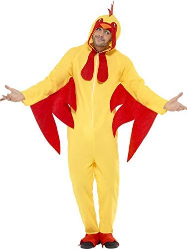 Luxuspiraten - Herren Männer Damen Kostüm Plüsch Huhn Hahn Henne Chicken Fell Einteiler Onesie Overall Jumpsuit, perfekt für Karneval, Fasching und Fastnacht, M, ()