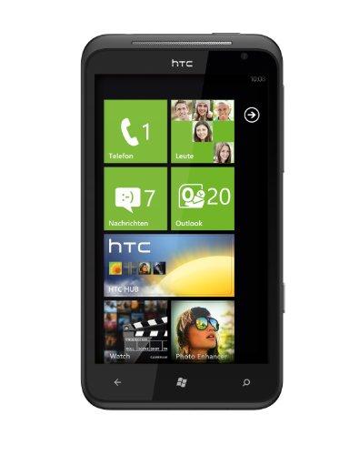 HTC Titan Smartphone (11,9 cm (4,7 Zoll) Touchscreen Display, 8 Megapixel Kamera, GSM, UMTS, HSDPA, WiFi, Windows Phone 7.5 OS) schwarz