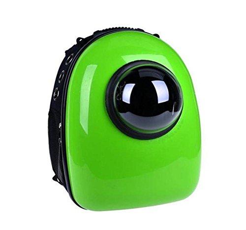 Astronauta Capsula Pet Zaino Airline Approved trasparente borsa portatile traspirante cane elemento portante del gatto per la corsa esterna Camminare Escursionismo , green