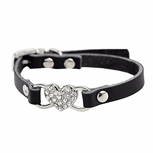 collier-chien-reglable-coeur-strass-peach-pu-cuir-collier-pet-puppy-dog-collier-xxs-10cm25cm-noir