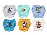 OZYOL Adventure 6er Pack Wasserdicht Baby Lernwindel Trainerhosen Unterwäsche Windeln Windelhose zum Toilettentraining Töpfchentraining (Set, 90)