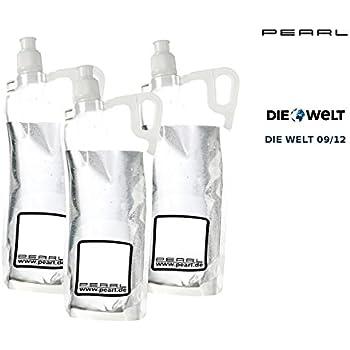 PEARL Faltbare Flasche: 3er-Pack faltbare Trinkflasche für Sport & Freizeit, 2 Liter (Beutel Trink-Flasche)