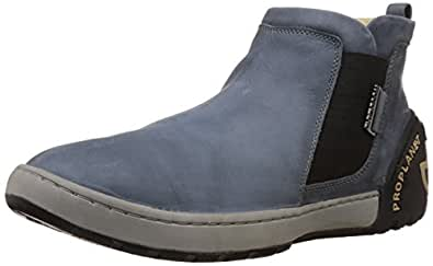 Woodland Men's Dark Grey Leather Boots - 10 UK/India (44 EU)