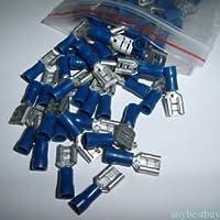 Bloomgreen Co. estrenar 100 piezas/paquete femenino aislado bala Terminales conector azul Kit 16-14AWG Wire