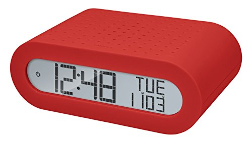 Oregon Scientific RRM116 - Reloj despertador digital clásico con radio FM, rojo