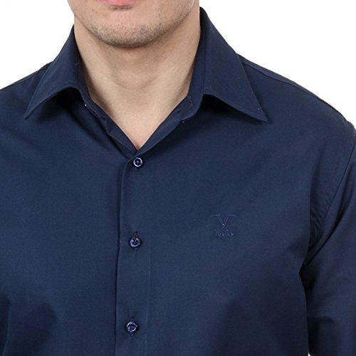 Versace 19.69 Abbigliamento Sportivo Srl Milano Italia Mens Classic Neck Shirt 377 VAR. 504 Dark Blue