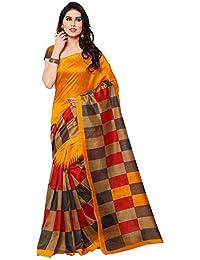 Buyonn Women's Art Silk Bhagalpuri Saree With Blouse Piece (Ofs1723-Y-1,Multicolor ,Free Size)