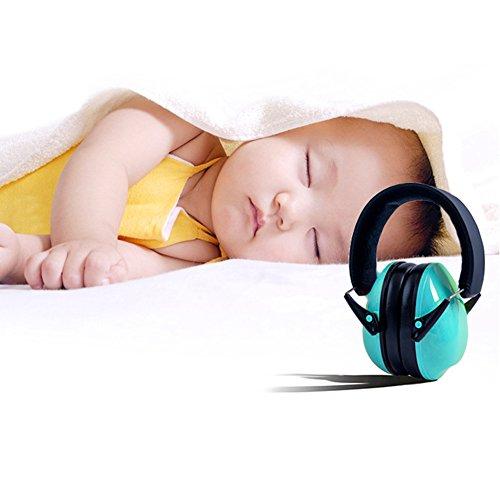 Archetto regolabile Muffs pieghevoli insonorizzazione paraorecchie Protezione acustica dell'orecchio per i bambini / infante / Studenti (3-12 anni) (blu)