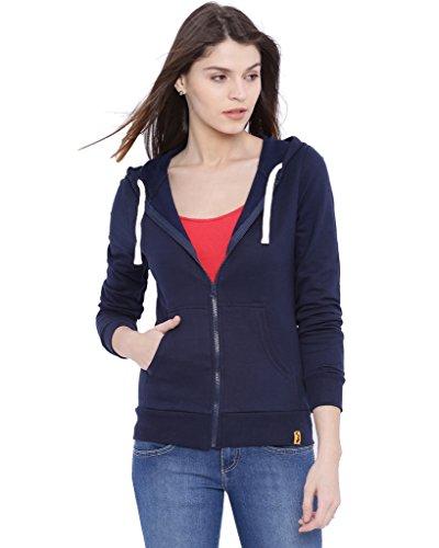 Campus Sutra Men's Cotton Jacket (AW16!_ZH!_W!_PLN!_BU!_M, Navy Blue, Medium)