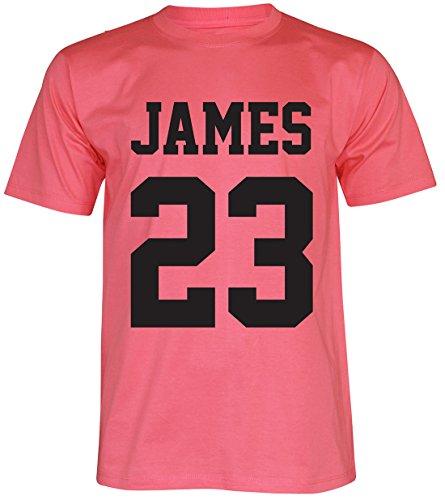 PALLAS Men's James Basketball Sport T-Shirt Pink