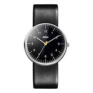 Braun Herren-Armbanduhr Analog Quarz 3 Zeiger Lederband