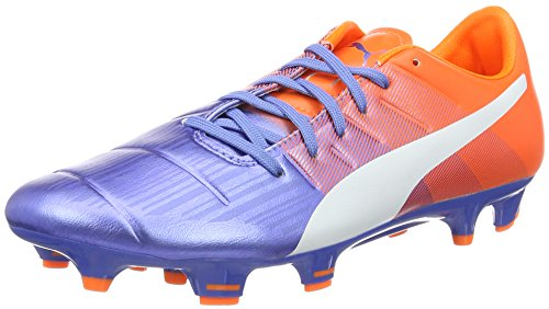 Puma evoPOWER 3.3 FG, Chaussures de football homme Multicolore (Blue Yonder-puma White-SHOCKING Orange 03)