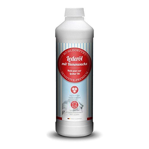Mühldorfer Lederöl, 500 ml, für alle Glattleder, schützt und pflegt, ideal für Sättel, Reitstiefel und Zaumzeug, mit Bienenwachs