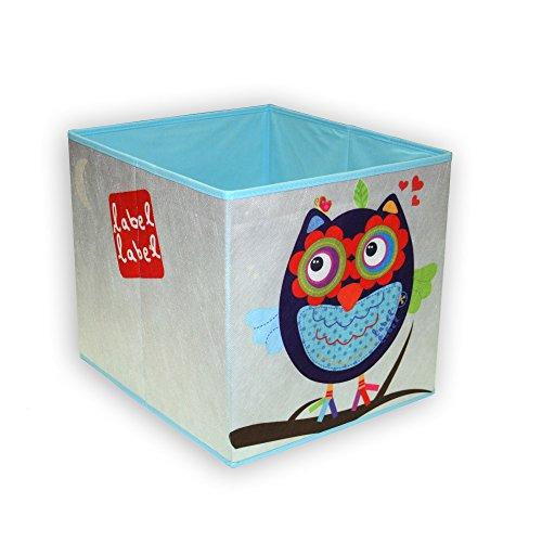 Vital Innovations LL-FR4002 Label Aufbewahrungsbox Eule boy, blau