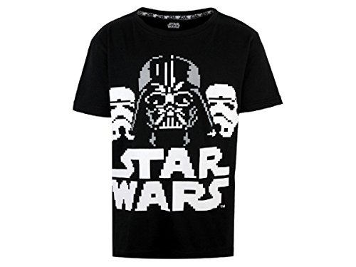 Boys T-Shirt Top Official Star Wars 8 9 10 11 12 13 14 15 & 16 Years Black