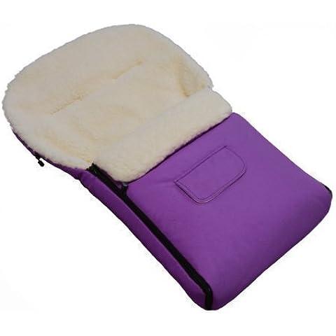 K-90-25 del pie del manguito de KAI 90 cm de fieltro con libre de púrpura de lana de piel de oveja es/mm de grosor y térmico para saco de abrigo impermeable con de plástico para con forma de carrito de rejilla para carrito de bebé trineo de