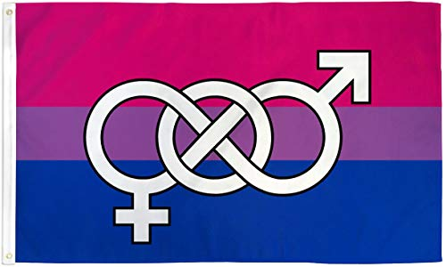 AZ FLAG Flagge BISEXUELLEN MIT Symbol 150x90cm - LGBT BISEXUALITÄT Fahne 90 x 150 cm - flaggen Top Qualität