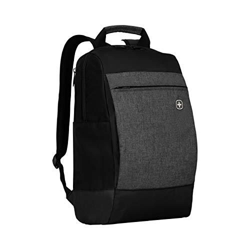 """Wenger 601082 BAHN 16\"""" Laptop-Rucksack, gepolsterte Laptopfach mit iPad/Tablet / eReader Tasche in schwarz / grau {16 Liter}"""