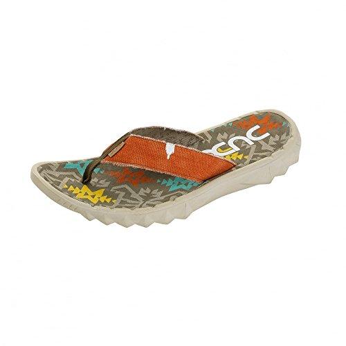 Dude Shoes , Herren Zehentrenner orange Multi Colour & Orange Multi Colour & Orange