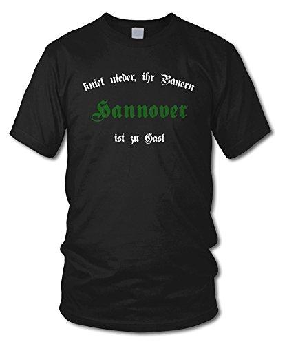 HANNOVER - Kniet nieder ihr Bauern - Fan T-Shirt - Schwarz - Größe M
