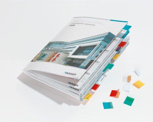 DURABLE Hunke & Jochheim Selbstklebevollsichtreiter TABFIX®, 10 mm, 2-zeilig, farbig sortiert, 12 Stück