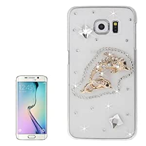 Crazy4Gadget Transparent Diamond Encrusted Fishes Pattern Protective Case for Samsung Galaxy S6 Edge / G925